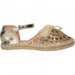Pantofi de vara, aurii, pentru fetite