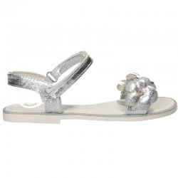 Sandale trendy, argintii, pentru fetite
