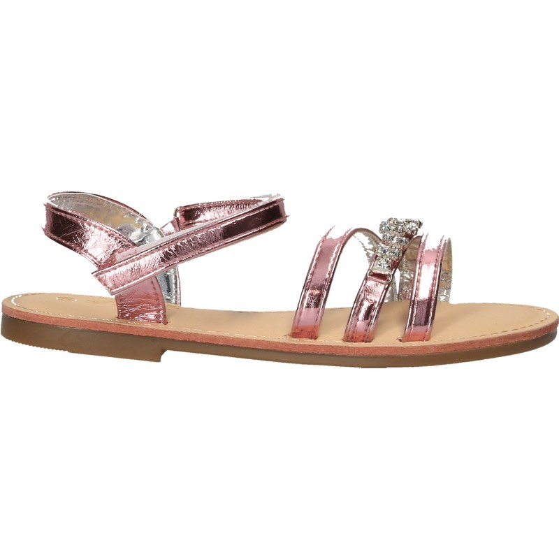 Sandale roz, cu strasuri, pentru fetite