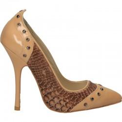 Pantofi dama, fashion, cu toc, din piele