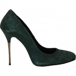 Pantofi de gala, velur verde, toc stiletto