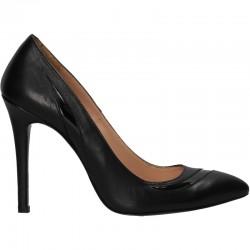 Pantofi dama, toc inalt, piele naturala