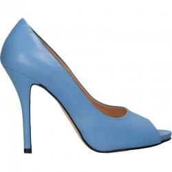 Pantofi vara, cu toc, piele naturala