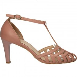Pantofi de vara, roz, piele, femei