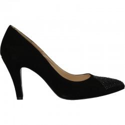 Pantofi negri de gala, piele naturala