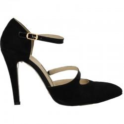 Pantofi de gala, din velur negru
