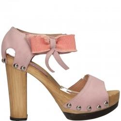 Sandale fashion, roz, piele naturala