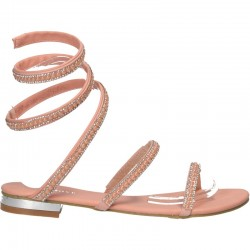 Sandale roz, glamour, sneak style