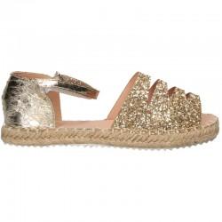 Sandale trendy, aurii, pentru fete