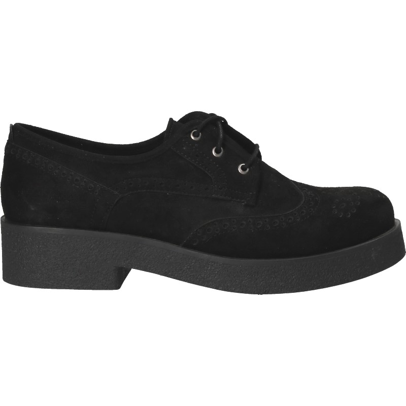 Pantofi in stil Oxford, cu talpa groasa