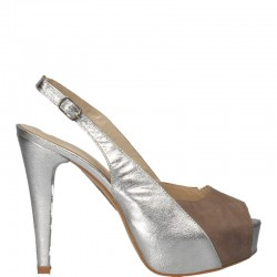 Sandale glamour, platforma, din piele