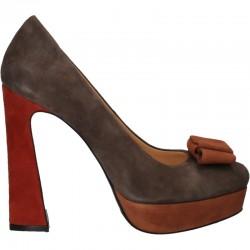 Pantofi fashion, cu platforma, din piele