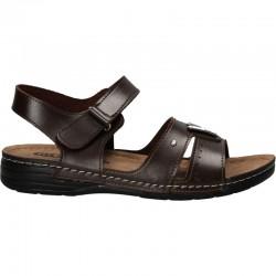 Sandale barbatesti, maron ciocolatiu