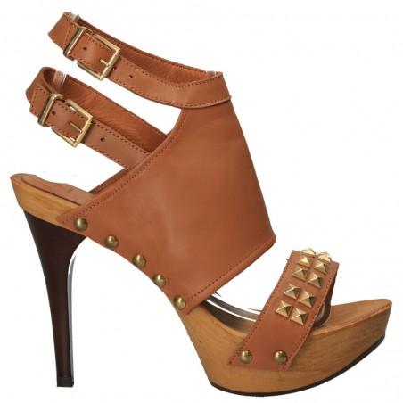 Sandale de dama, fashion, cu tinte si capse