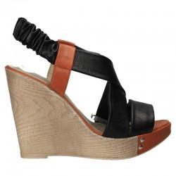 Sandale elegante, cu platforma inalta