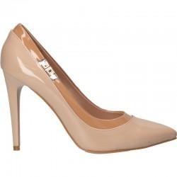 Pantofi femei elegant, culoarea bej