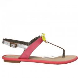 Sandale dama, casual, fuxia