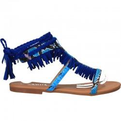 Sandale moderne, cu franjuri, pe glezna