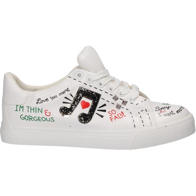 Sneakers femei, moderni, cu inscriptii