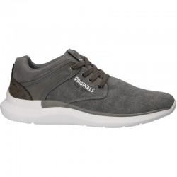 Sneakers moderni, gri, canvas, barbati