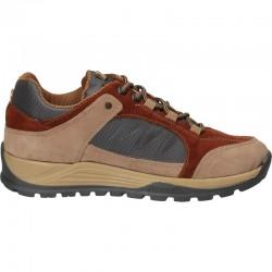 Pantofi trekking, din velur si canvas