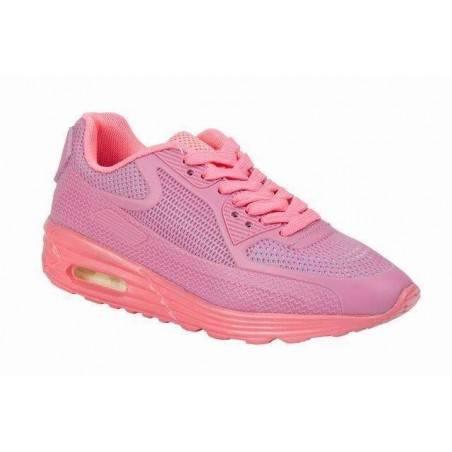Pantofi roz de Sport, cu talpa groasa