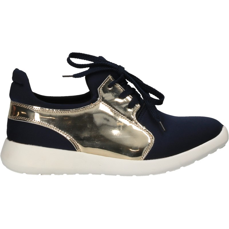 Pantofi casual, de dama, decor auriu