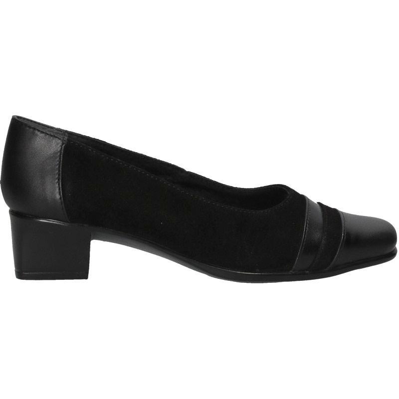 Pantofi eleganti, toc mic, piele naturala