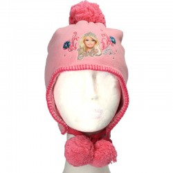 Caciula Barbie, culoarea roz, pentru fete