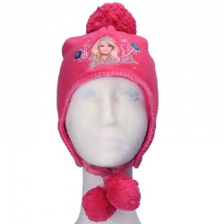Caciula Barbie, fucsia, cu blana