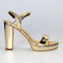 Sandale trendy, de gala, cu toc robust