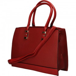 Poseta eleganta, stil office, culoarea rosie
