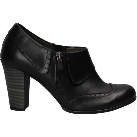 Pantofi negri, office, femei, piele