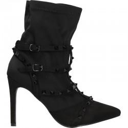 Botine fashion, negre, toc inalt