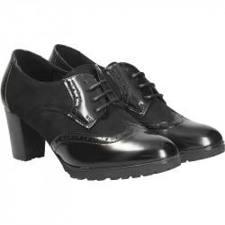 Pantofi dama, negri, stil Oxford