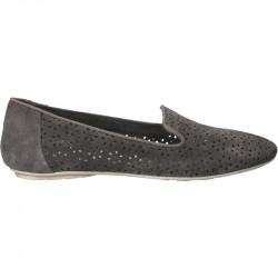Pantofi dama, velur, cu perforatii florale