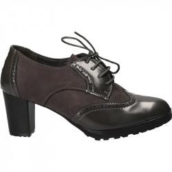 Pantofi dama, stil Oxford, culoarea gri