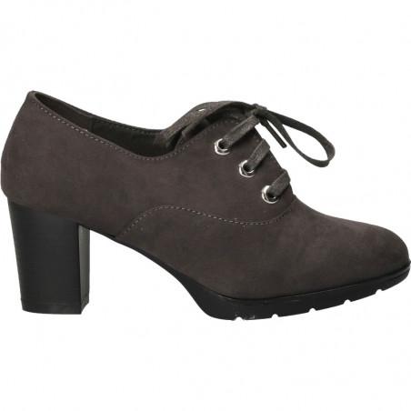Pantofi cu toc mediu, culoarea gri
