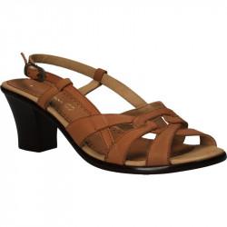 Sandale din piele, maro