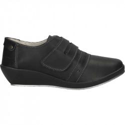 Pantofi casual, platforma mica, piele