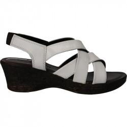 Sandale din piele alba, pentru femei