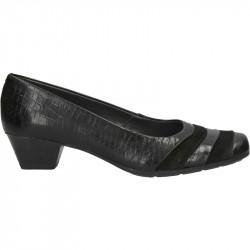 Pantofi clasici, toc mic, piele naturala