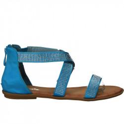 Sandale copii, din satin cu strasuri