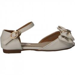 Sandale albe, cu fundita...