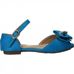 Sandale albastre cu fundita...