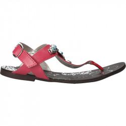 Sandale fete, flip flops, roz, cu decor