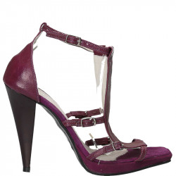 Sandale moderne, toc inalt, piele naturala