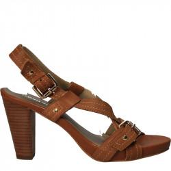 Sandale din piele, maro,...