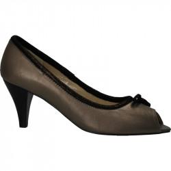 Pantofi decupati de vara, gri metal