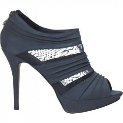 Sandale fashion, cu plasa, toc inalt
